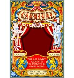 Circus Carnival Theme vintage 2d AurielAki vector image vector image