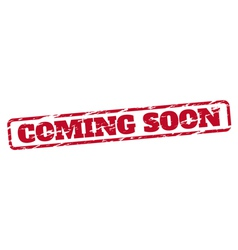Coming soon rubber stamp vector image vector image