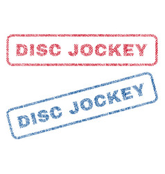Disc jockey textile stamps vector