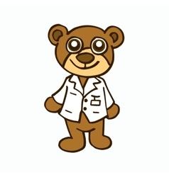 Doctor Bear character design for kids vector image