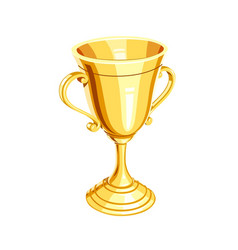 gold champion cup vector image vector image
