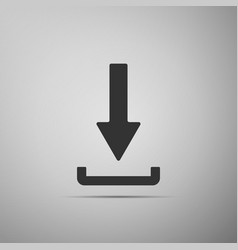 download icon upload button load symbol vector image vector image