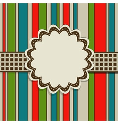 Retro Greeting Card Template vector image