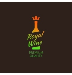Royal wine premium quality colorful logo vector image