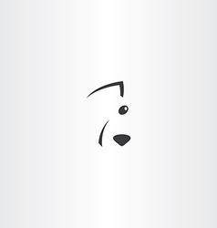 stylises dog face logo icon vector image