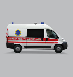 ukrainian ambulance special medical vehicles vector image vector image