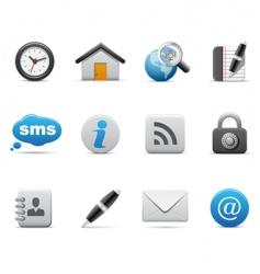 volumetric web icons vector image vector image