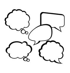 Bubble speakbox design vector image