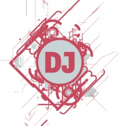 DJ cd cover vector image