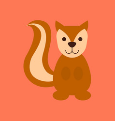 flat icon stylish background cartoon squirrel vector image