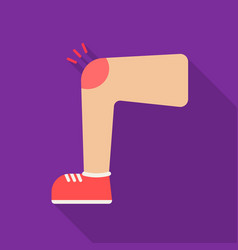 knee injury icon flate single sick icon from the vector image