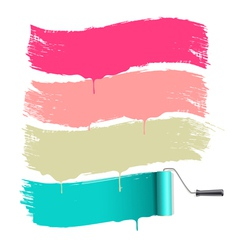 roller brushes painting vector image vector image