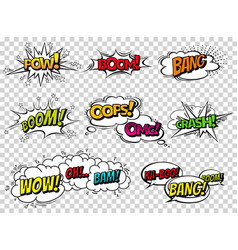 comic book sound effect speech bubbles vector image