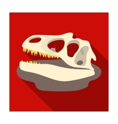 Dinosaur fossils icon in flat style isolated on vector