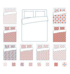 linen and bedding duvet textile patterns vector image