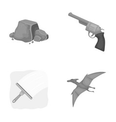 mine cleaning and other monochrome icon in vector image