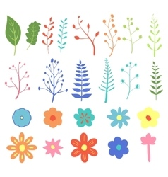 Stock Natural design elements hand-drawn vector image