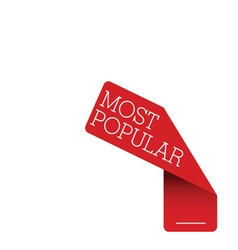tag label most popular red vector image