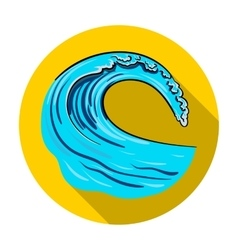 Wave icon in flat style isolated on white vector