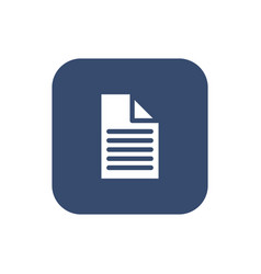 a piece of paper icon flat design vector image