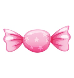 A pink candy vector