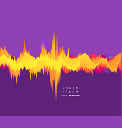 Abstract waveform background 3d technology style vector