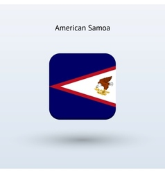 American Samoa flag icon vector image