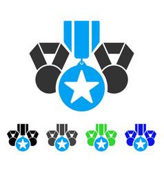 Awards flat icon vector