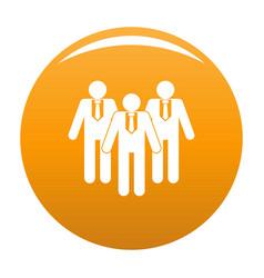 Board directors icon orange vector