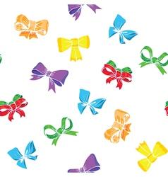 Bows and ribbons seamless vector image