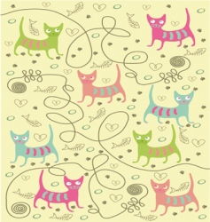 bright cats vector image