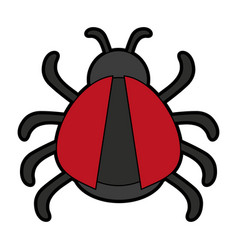 Bug or beatle icon image vector
