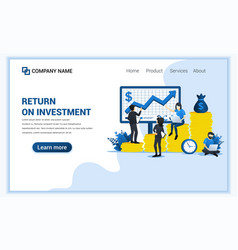 business investment concept with people managing vector image