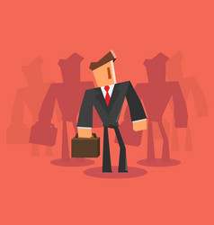Businessman team professional concept vector