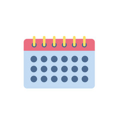 calendar school education learning flat style vector image