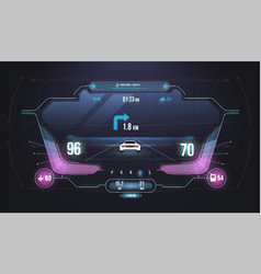 cars infographic ui analysis and diagnostics in vector image