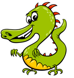 Cartoon dragon fictional comic character vector