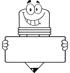 cartoon pencil classroom teacher vector image