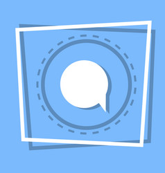 chat bubble icon social media message concept vector image