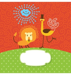 Children greeting card vector image vector image