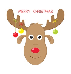 Christmas moose vector