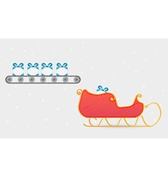 Conveyor belt with presents vector
