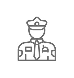 cop police officer line icon vector image