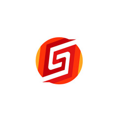 creative abstract s letter red circle logo vector image
