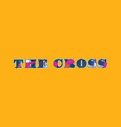 cross concept word art vector image