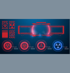 Danger warning circle red sign blue and red vector