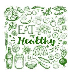 Eat healthy food vegetarian 1 vector