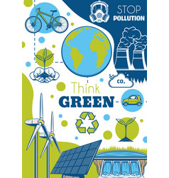Eco energy ecology and environment protection vector