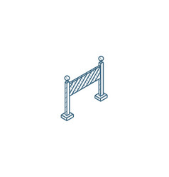 fence light construction isometric icon 3d line vector image