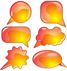 Flame speech bubble set vector image